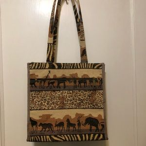 African Safari Themed Tote by Jade